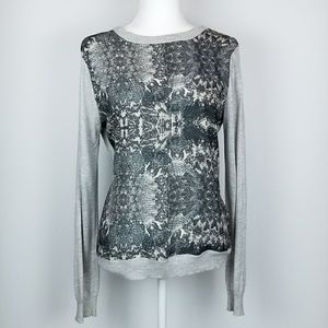 Anthropologie Cacharel French Snake Print Sweater